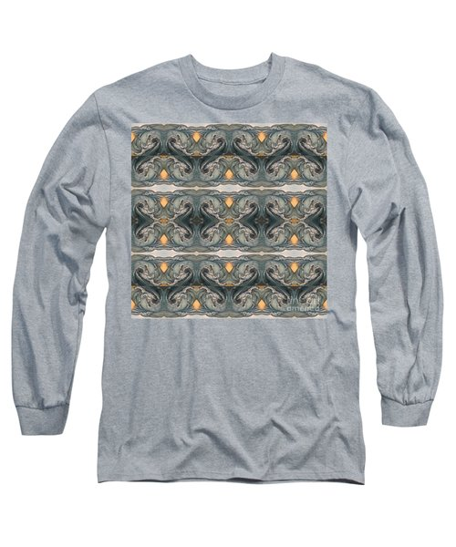 Tsunami Mirror Pattern Long Sleeve T-Shirt