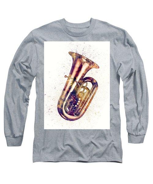 Tuba Abstract Watercolor Long Sleeve T-Shirt