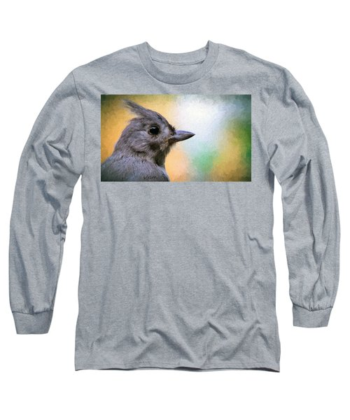 Tufted Titmouse Long Sleeve T-Shirt by Diane Giurco