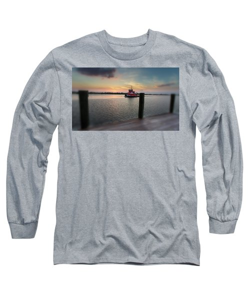 Tug Boat Sunset Long Sleeve T-Shirt