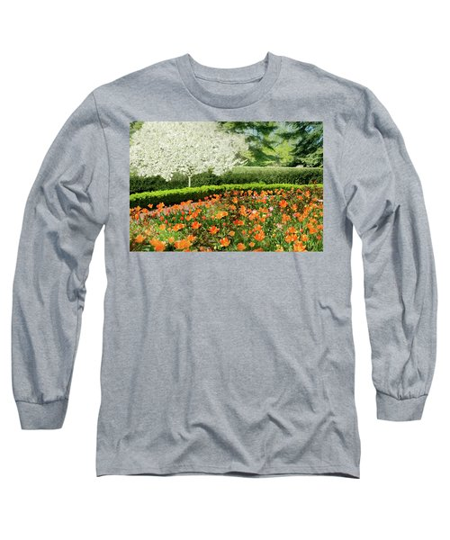 Long Sleeve T-Shirt featuring the photograph Tulip Cafe by Diana Angstadt