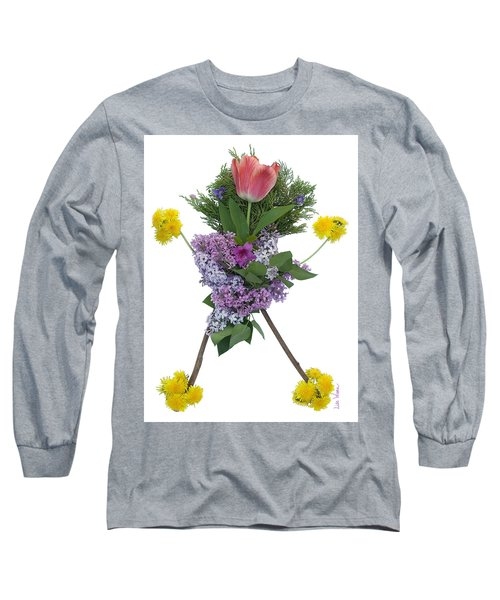 Long Sleeve T-Shirt featuring the digital art Tulip Head by Lise Winne