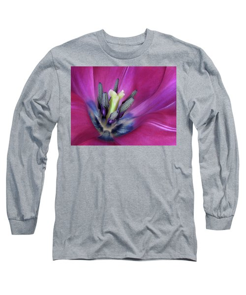 Long Sleeve T-Shirt featuring the photograph Tulip Intimacy by David and Carol Kelly