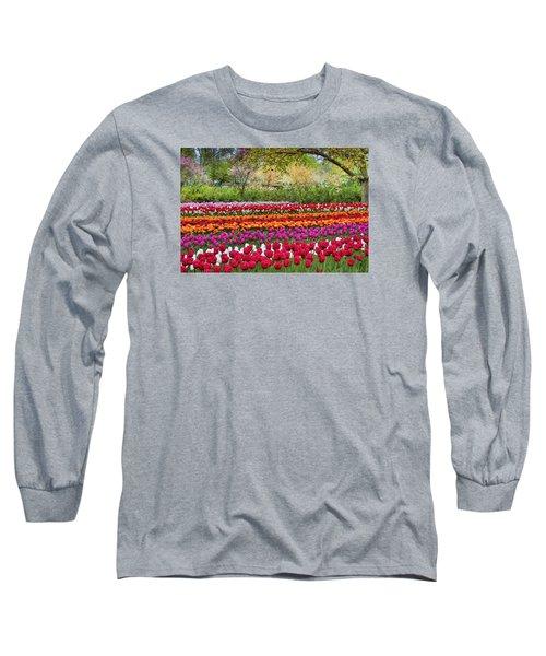 Tulip Mania Long Sleeve T-Shirt by Nadia Sanowar