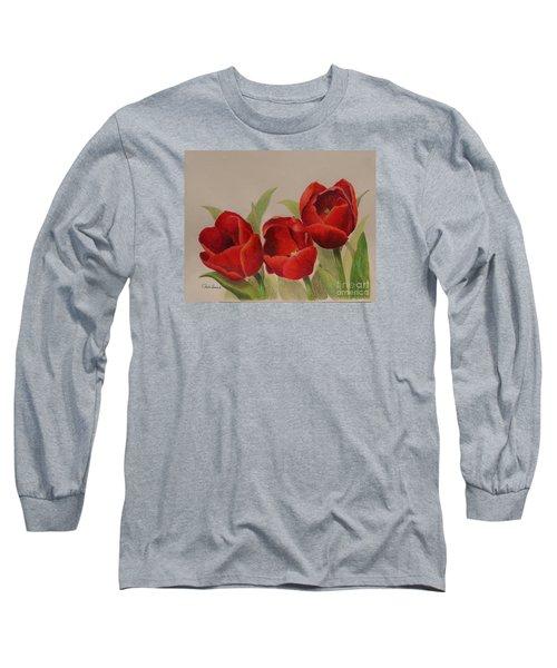 Tulip Trio Long Sleeve T-Shirt by Phyllis Howard