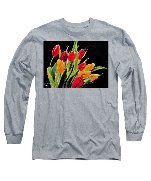 Tulips Colors Long Sleeve T-Shirt