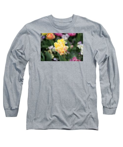 Long Sleeve T-Shirt featuring the photograph Tulips by Diana Mary Sharpton