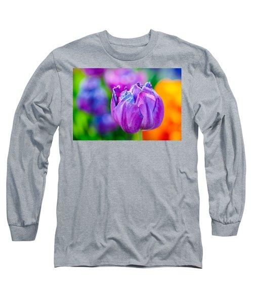 Long Sleeve T-Shirt featuring the photograph Tulips Enchanting 47 by Alexander Senin