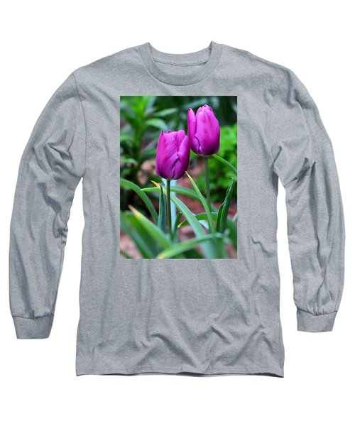 Tulips Long Sleeve T-Shirt by Kathy Eickenberg