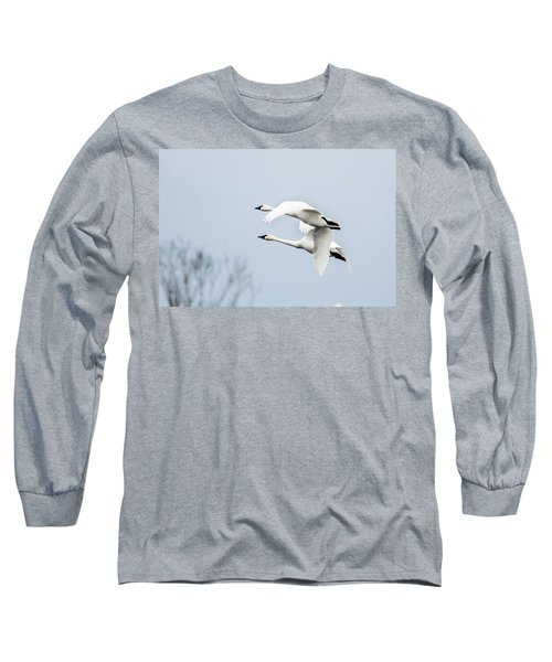 Tundra Swan Lift-off Long Sleeve T-Shirt
