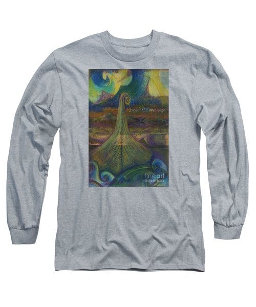 Turbulence Long Sleeve T-Shirt by Cynthia Lagoudakis