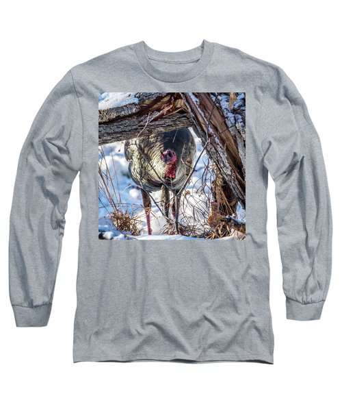 Long Sleeve T-Shirt featuring the photograph Turkey In The Brush by Paul Freidlund