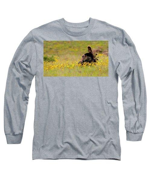 Turkey In Wildflowers Long Sleeve T-Shirt