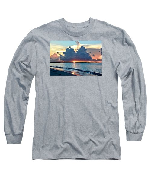 Turks And Caicos Grace Bay Beach Sunset Long Sleeve T-Shirt