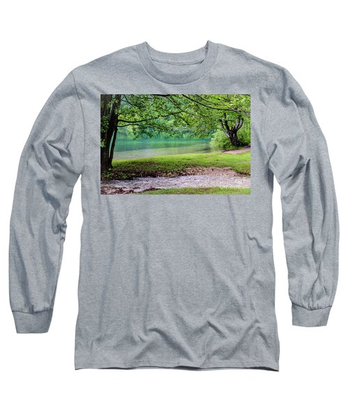 Turquoise Zen - Plitvice Lakes National Park, Croatia Long Sleeve T-Shirt