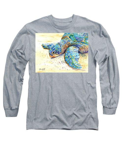 Turtle At Poipu Beach 4 Long Sleeve T-Shirt