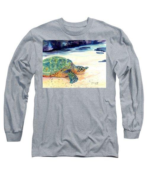 Turtle At Poipu Beach 5 Long Sleeve T-Shirt