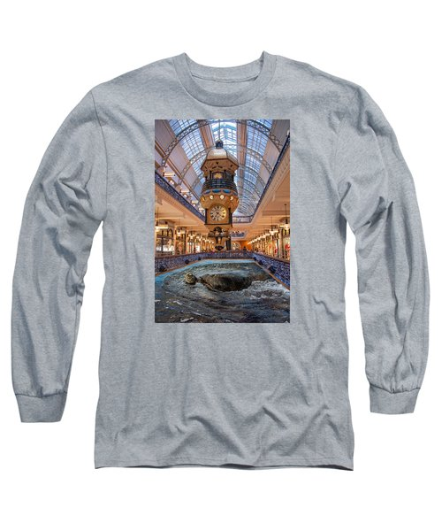 Long Sleeve T-Shirt featuring the photograph Turtle At The Mall by Harry Spitz