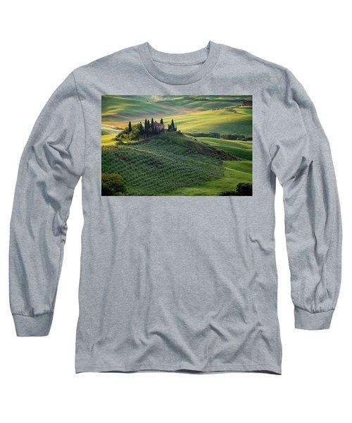Green Hills Of Val De L' Orca Tuscan Villa Long Sleeve T-Shirt