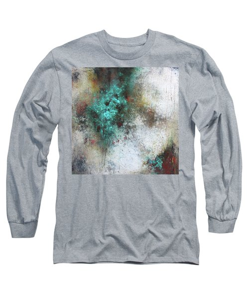 Tuscany Oil And Cold Wax Long Sleeve T-Shirt by Patricia Lintner