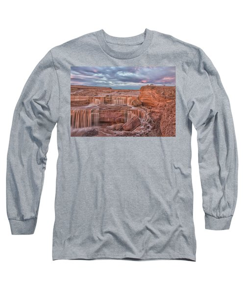 Twilight At Chocolate Falls Long Sleeve T-Shirt by Tom Kelly