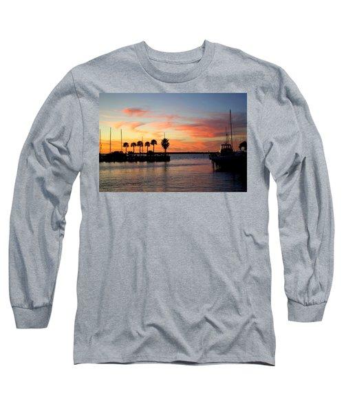 Twilight At The Marina Long Sleeve T-Shirt