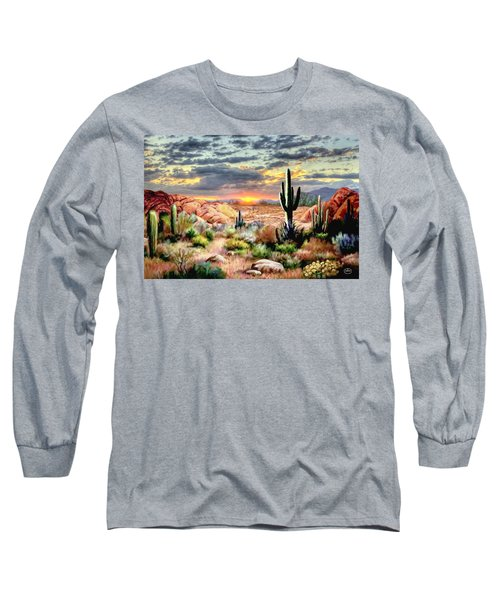 Twilight On The Desert Long Sleeve T-Shirt
