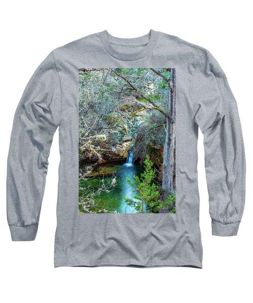 Twin Falls At Peddernales Falls State Park Long Sleeve T-Shirt