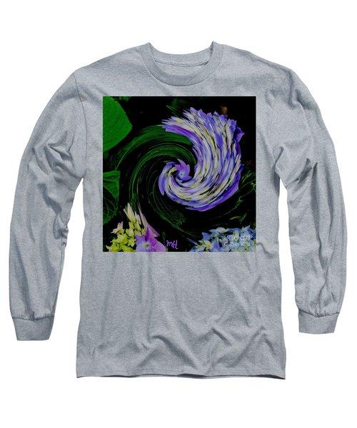 Long Sleeve T-Shirt featuring the digital art Twirly Birdy by Marsha Heiken