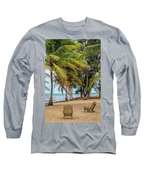 Two Chairs In Belize Long Sleeve T-Shirt