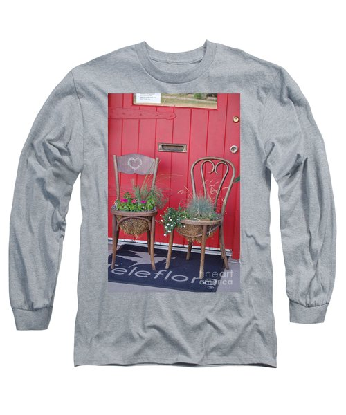 Two Chairs With Plants Long Sleeve T-Shirt