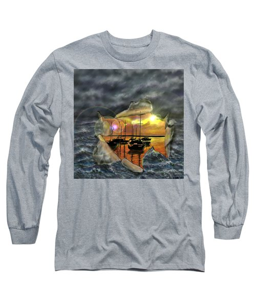 Long Sleeve T-Shirt featuring the digital art Two Climates by Darren Cannell