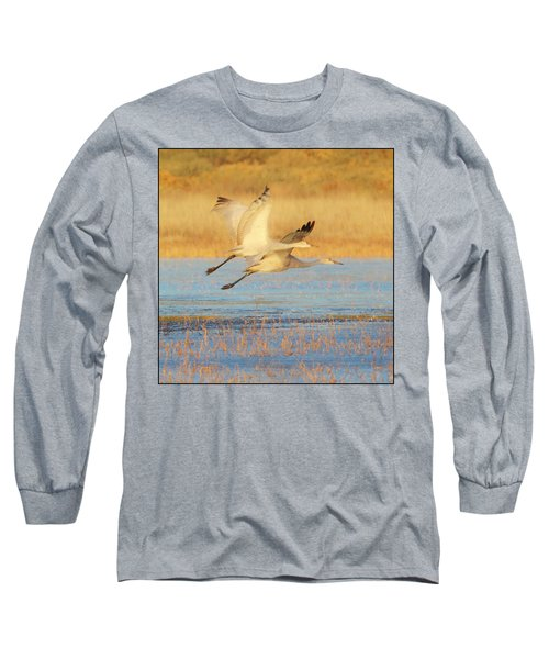 Two Cranes Cruising Long Sleeve T-Shirt