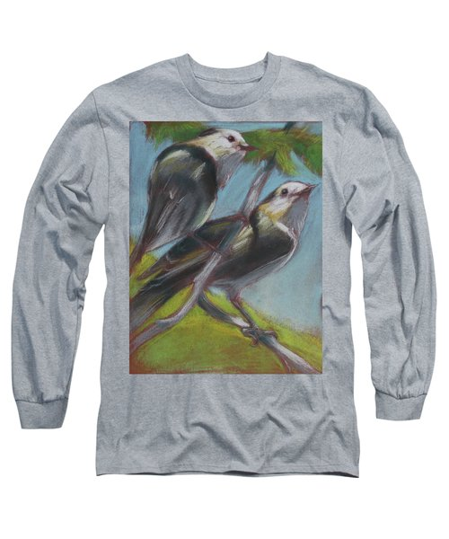Two Gray Jays Long Sleeve T-Shirt