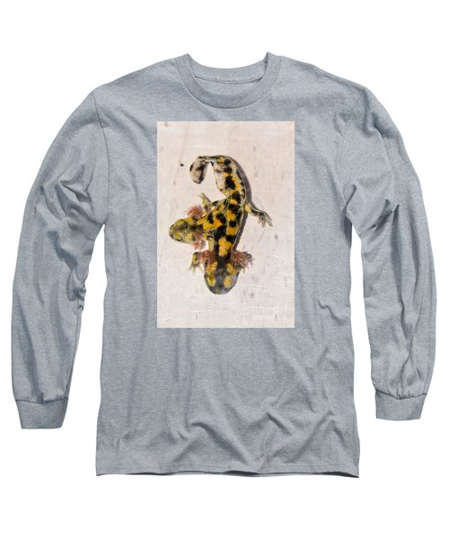 Two-headed Near Eastern Fire Salamande Long Sleeve T-Shirt by Shay Levy