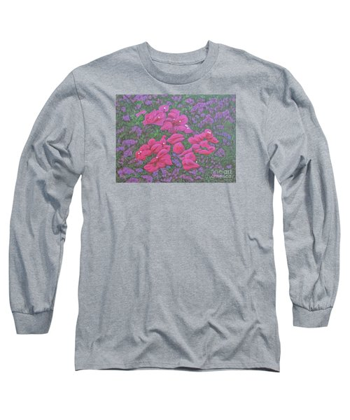 Two Layer Bougainvillea Long Sleeve T-Shirt