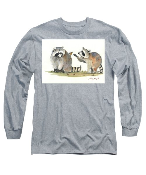 Two Raccoons Long Sleeve T-Shirt