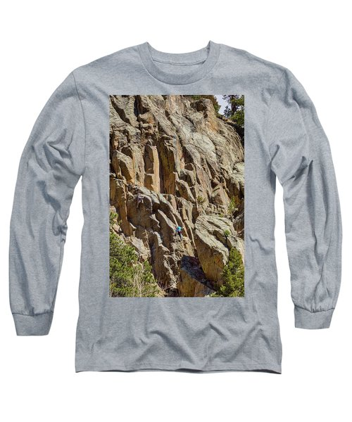 Long Sleeve T-Shirt featuring the photograph Two Rock Climbers Making Their Way by James BO Insogna