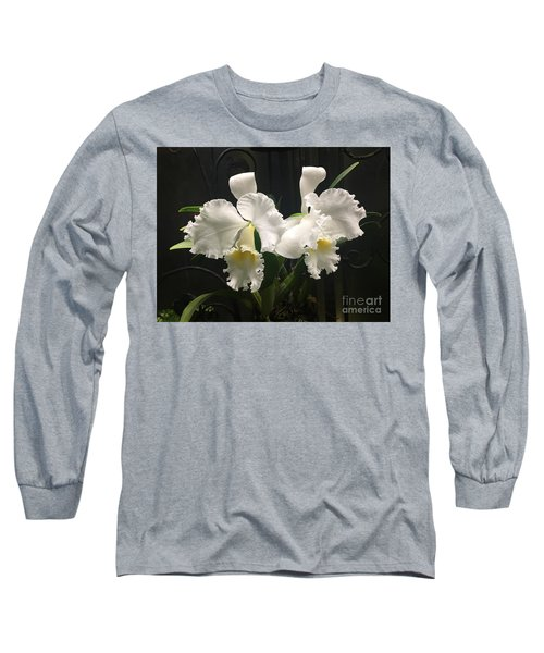 Two White Orchids Long Sleeve T-Shirt