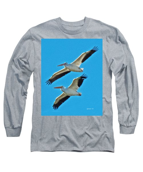 Two White Pelicans Long Sleeve T-Shirt