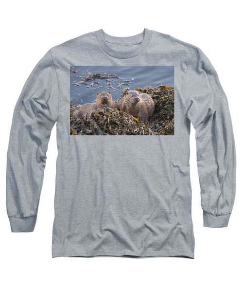 Two Young European Otters Long Sleeve T-Shirt