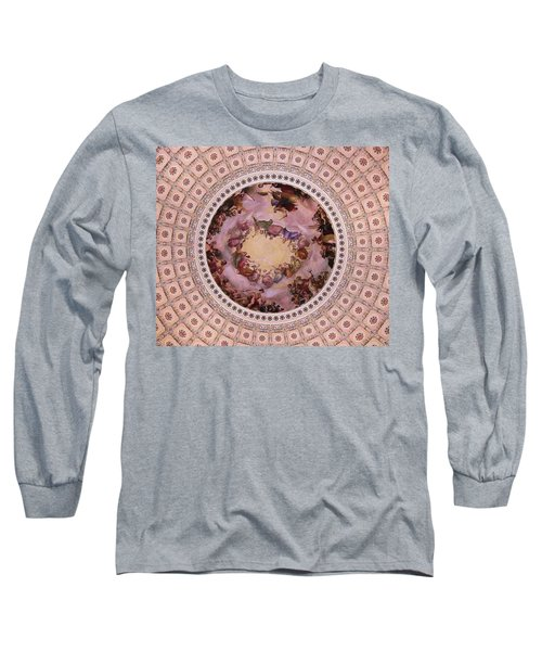 U S Capitol Dome Mural # 3 Long Sleeve T-Shirt