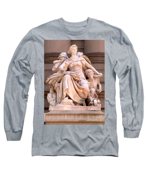 U S Custom House 4 Long Sleeve T-Shirt by Randall Weidner