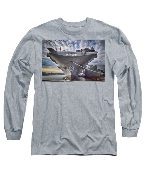 U S S   Intrepid Long Sleeve T-Shirt by Dyle Warren