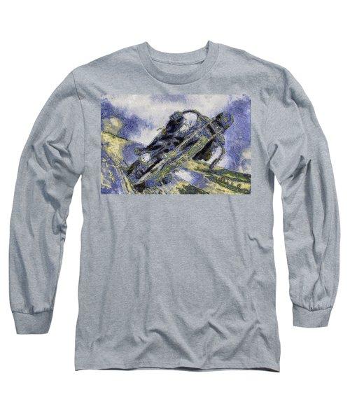 Ubiquitous Harley-davidson Cult Long Sleeve T-Shirt