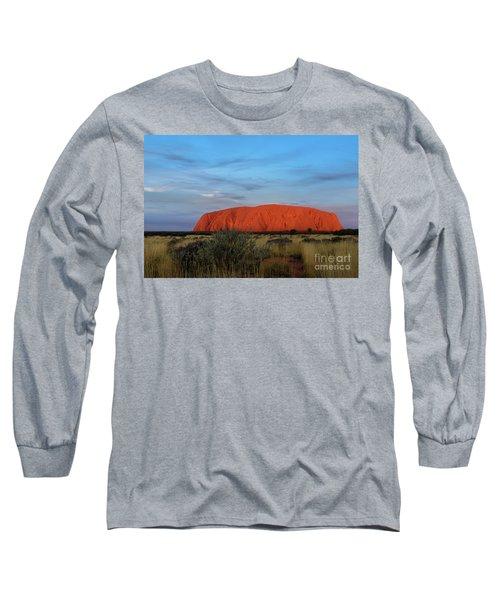 Long Sleeve T-Shirt featuring the photograph Uluru Sunset 03 by Werner Padarin
