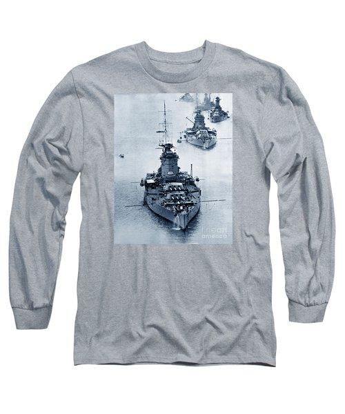 Hms Nelson And Hms Rodney Battleships And Battlecruisers Hms Hood Circa 1941 Long Sleeve T-Shirt