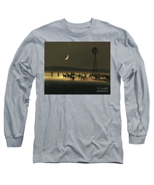 Under A Rustlers Moon Long Sleeve T-Shirt