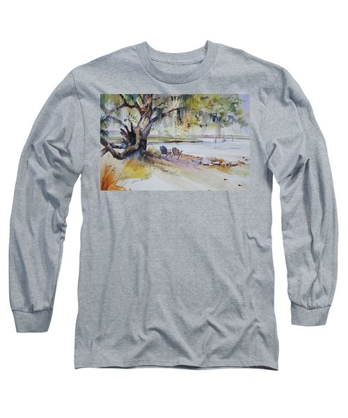 Under The Live Oak Long Sleeve T-Shirt by P Anthony Visco