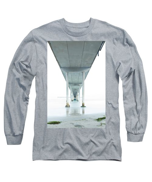Long Sleeve T-Shirt featuring the photograph Under The Ocean Beach Pier Early Morning by James Sage
